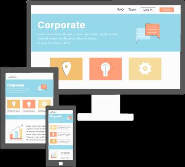 コーポレートサイトは企業の顔となる基本的なホームページになります